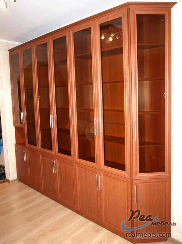 Книжный шкаф с нишей - реал мебель.