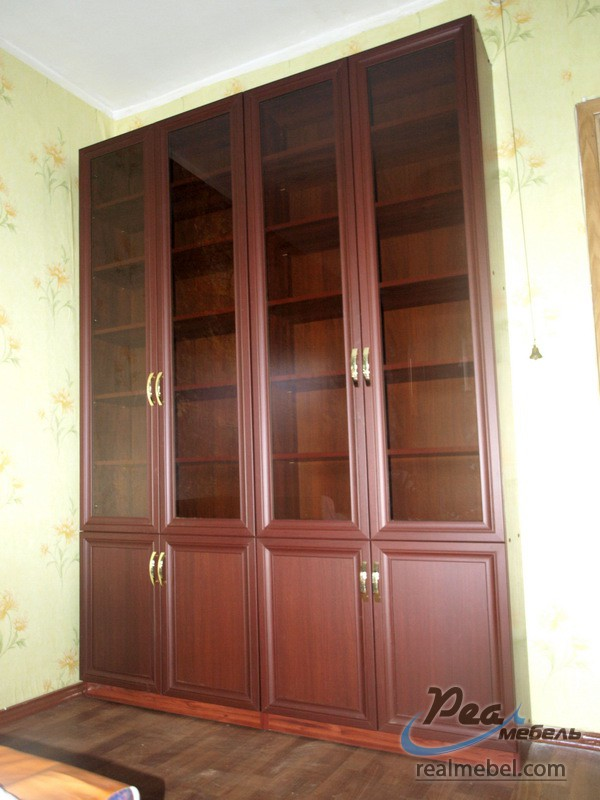 Книжные шкафы махагон - реал мебель.