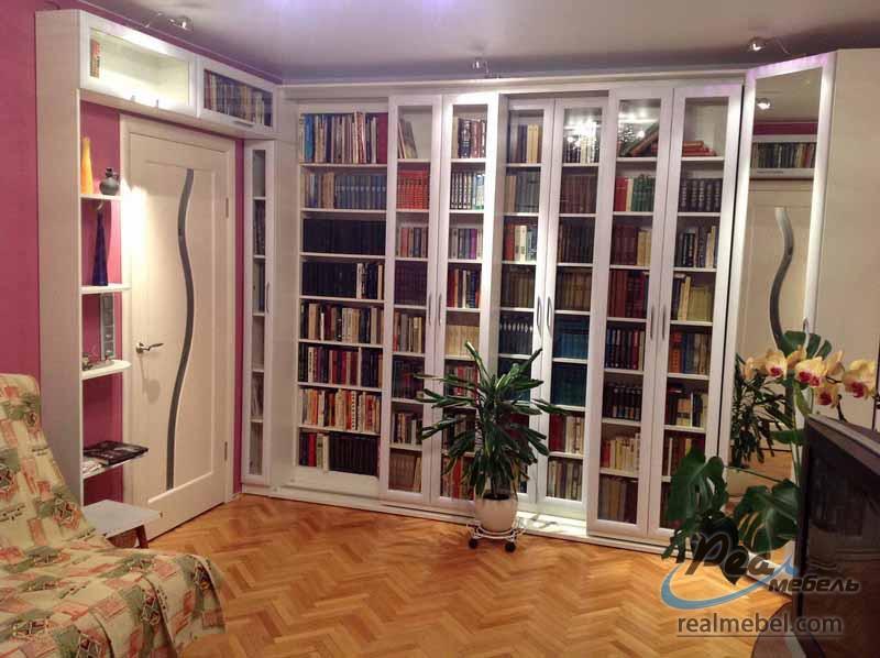Раздвижные книжные шкафы и библиотеки - реал мебель.